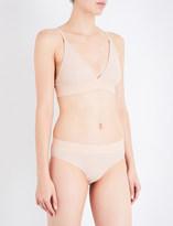 Base Range Baserange Triangle ribbed stretch-cotton bra