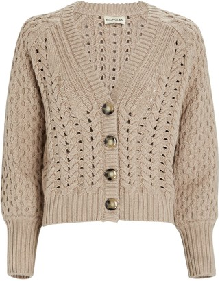 Nicholas Savva Cable Knit Merino Wool Cardigan
