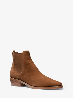 Michael Kors Lottie Suede Ankle Boot