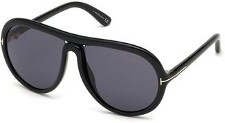 Tom Ford Cybil Acetate Aviator Sunglasses