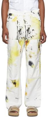 Off-White Multicolor Futura Edition Abstract Carpenter Jeans