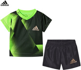 adidas Green Football Silo Shorts and Tee