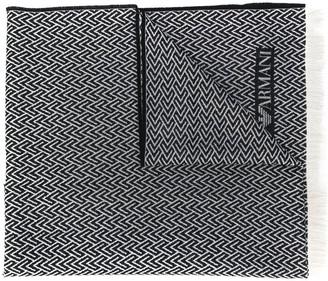 Emporio Armani Jacquard-Knit Scarf