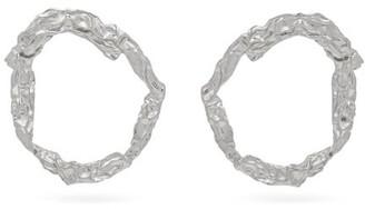 Chloé Anouck Crinkle-effect Hoop Earrings - Womens - Silver