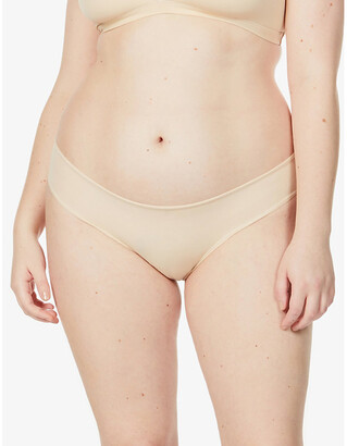 SKIMS Ladies Cream Kim Kardashian West Everybody Cheeky Brief, Size: XXS