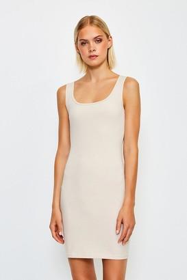 Karen Millen Smooth Essential Scoop Neck Slip Dress