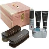 Synovia Men's Shoe Care Kit & Deluxe Cedar Box