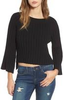 J.o.a. Women's Crop Ribbed Sweater
