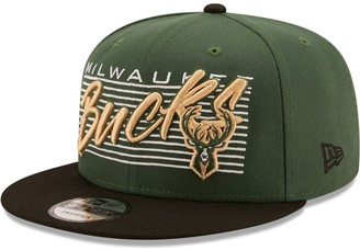 New Era Men's Hunter Green Milwaukee Bucks Retro 9FIFTY Snapback Hat