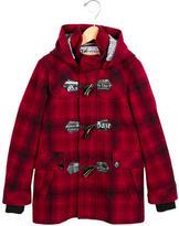 John Galliano Boys' Plaid Hooded Coat