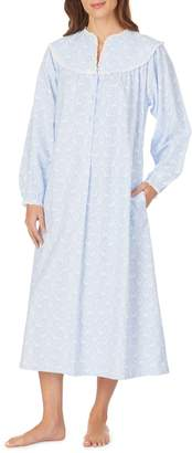 Lanz Of Salsburg Printed Cotton Nightgown