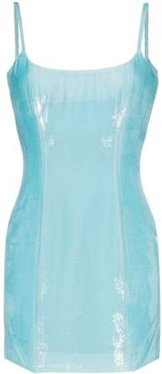 Halpern Bustier hi-sheen mini dress