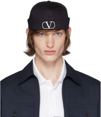Valentino Black Garavani VLogo Beanie