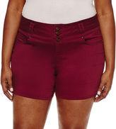 Blue Spice 2 1/2 Denim Shorts-Juniors Plus