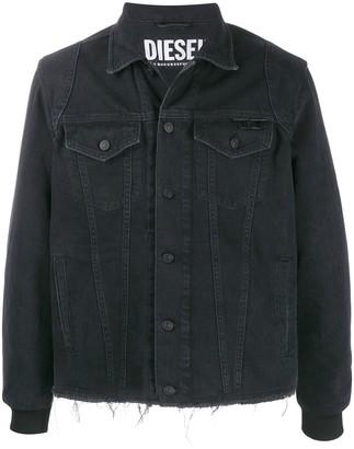 Diesel logo print denim trucker jacket