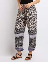 Charlotte Russe Floral Printed Jogger Pants