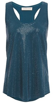 Alexandre Vauthier Crystal-embellished Stretch-cotton Jersey Tank