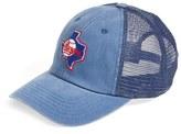 American Needle Men's 'Texas Rangers - Raglan Bones' Mesh Trucker Cap - Blue