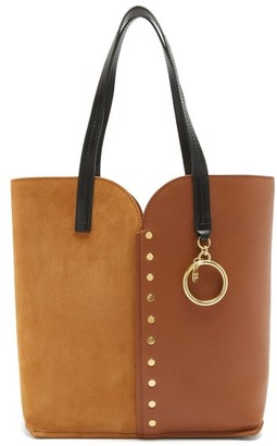 See by Chloe Gaia Suede And Leather Tote Bag - Brown Multi