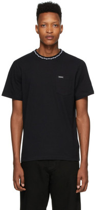 Noah NYC Black Jacquard Collar T-Shirt
