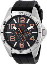 "BOSS ORANGE Men's 1512945 ""Big Time"" Stainless Steel Watch with Silicone Band"