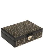 Wolf 'Marrakesh' Flat Jewelry Box - Black