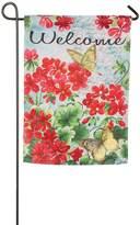 """Evergreen 18"""" x 12.5"""" Floral """"Welcome"""" Indoor / Outdoor Garden Flag"""