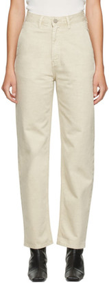 AMOMENTO Beige Silhouette Jeans