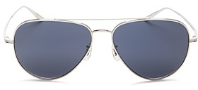 Oliver Peoples x The Row Women's Casse Brow Bar aviator Sunglasses, 58mm