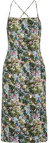 Cushnie et Ochs Donna Open-back Floral-print Stretch-cady Dress - Green