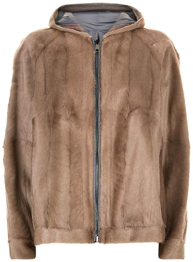 Brunello Cucinelli Reversible Goat Fur Jacket
