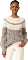TSE Chevron Stitch Chunky Pullover