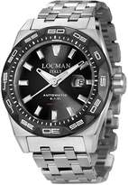 Locman Men's 46mm Steel Bracelet & Case Automatic Watch 0215v1-0kbknkbr0