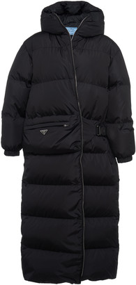 Prada Hooded Quilted Shell Down Coat