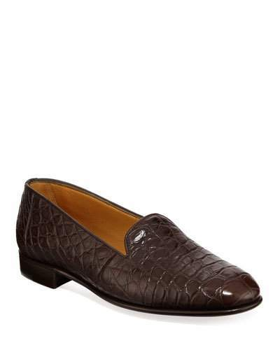 Gravati Alligator Slip-On Loafers