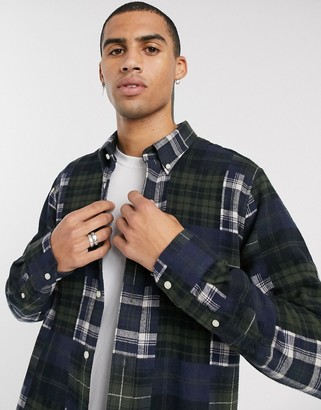 Barbour Beacon mix check shirt in green