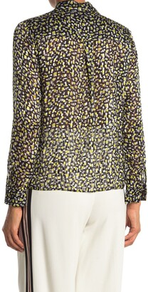 Alice + Olivia Willa Silk Placket Top