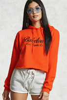 Forever 21 FOREVER 21+ Babetown Cropped Hoodie