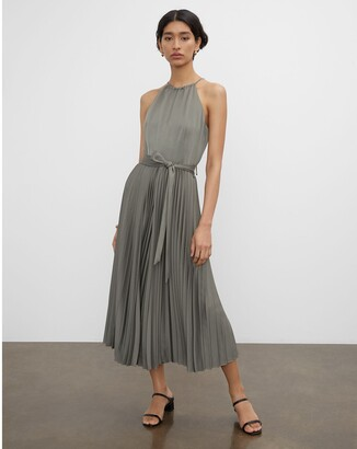 Club Monaco Pleated Tie Neck Jumpsuit