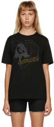 Saint Laurent Black Heart Graphic T-Shirt