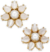 Kate Spade 14k Gold-Plated Imitation Pearl Flower Stud Earrings