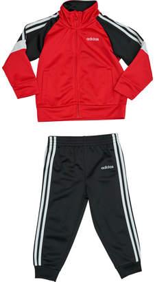 adidas Boys' Infant Colorblock Tricot Track Jacket and Jogger Pants Set