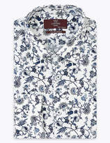Marks and Spencer Tailored Fit Floral Print Pure Cotton Shirt
