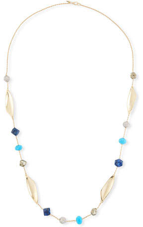 Alexis Bittar Chrysocolla, Lapis & Turquoise Station Necklace