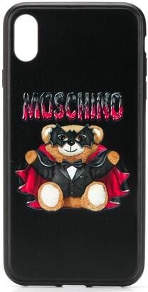 Moschino Teddy print iPhone XS Max case