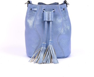 Atelier Hiva Mini Rivus Leather Bag Metallic Baby Blue