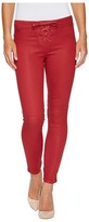 Joe's Jeans Lace Front Icon Ankle Jeans in Red Women's Jeans
