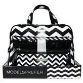 Models Prefer Black And White Chevron Weekender Set 3 pack