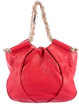 Christian Louboutin Pleated Leather Hobo