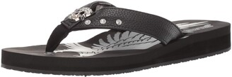 AdTec Women's Sandal Comfortable Sandals with EVA Sole Biker and Beach Flip Flops for Women